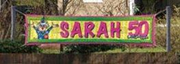 Straatbanner Sarah 50, 180x40 cm