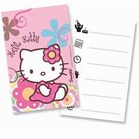 Hello Kitty Uitnodigingen, 6 stuks