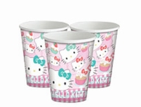 Hello Kitty Bekers, 8 stuks, 200ml