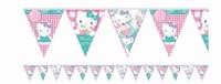Hello Kitty Vlaggenlijn 1,2 meter, 12 vlaggetjes karton