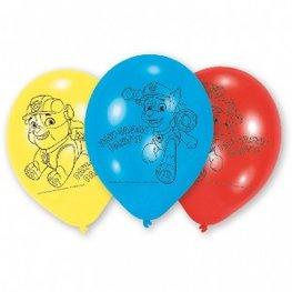 Paw Patrol ballonnen, 6 stuks