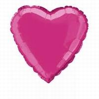 Roze: Hot Pink (felroze) Hart Folieballon