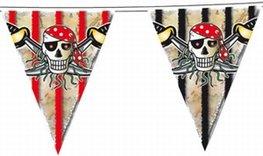 Vlaggenlijn Red Pirate, 10 meter, plastic