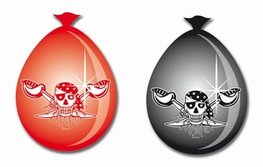 Ballonnen Red Pirate, 8 stuks
