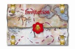 Uitnodigingen Red Pirate, 8 stuks