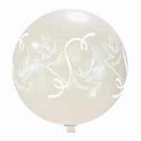 Duifjes transparante XL Ballon, 65cm