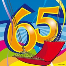 65 jaar, Swirl Servetten, 20 stuks