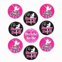 Bride to be button set, 9 stuks, diam. 4,5cm