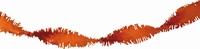 Oranje Guirlande crepe slinger, 24 meter
