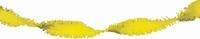 Geel Guirlande crepe slinger, 24 meter