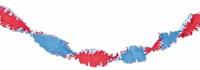 Guirlande crepe slinger rood/wit/blauw, 24 meter,