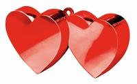 Ballongewichtje hartjes rood 135 gram