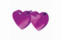 Ballongewichtje hartjes magenta/pink 135 gram