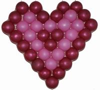 Ballon hart frame voor 38 ballonnen 13cm afm. 60x60cm