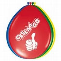 Ballonnen Hoera Geslaagd, 8 stuks*