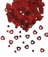 Rood hartjes Tafeldecoratie sierconfetti, 14 gram