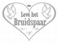 'Leve het Bruidspaar' Deurbord