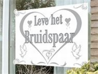 'Leve het Bruidspaar' Vlag, 100x150 cm