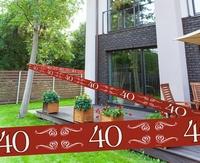 40 jaar, Robijn Afzetlint, 15 meter