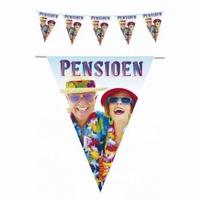 Vlaggenlijn Pensioen 6 meter plastic