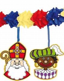 Slinger met Sint en Piet onderhangers