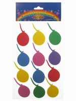 Foam stickers ballonnen assorti, 24 stuks