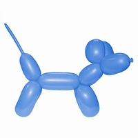 Blauw Modelleerballon 260