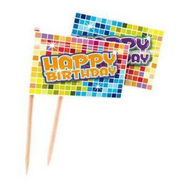 Prikkers Happy Birthday blocks, 24 stuks