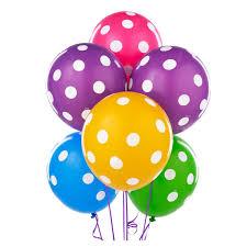 Ballonnen assorti polka dots, 10 stuks