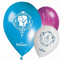 Frozen Disney Ballonnen Anna, Elsa en Olaf, 28cm, 8 stuks