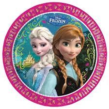 Frozen Disney Bord Anna en Elsa 23cm, 8 stuks