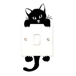 Sticker hangende kat