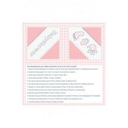 Babyshower Servetten roze, 20 stuks
