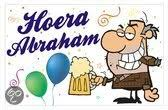 Raamsticker statisch Hoera Abraham met bierpul
