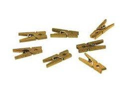 Goud Wasknijpers mini, 20 stuks