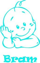 Raamsticker baby gezichtje jongen