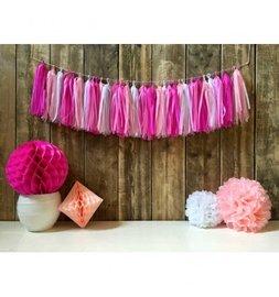 Roze Tassel slinger DIY