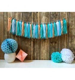 Blauw Tassel slinger DIY