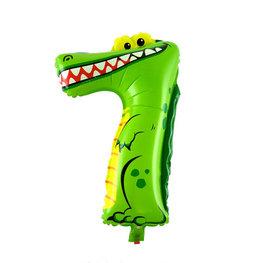 7 Zooloon folieballon Krokodil, ca. 35 cm