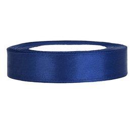 Donkerblauw Satijn lint, 20mm, per meter