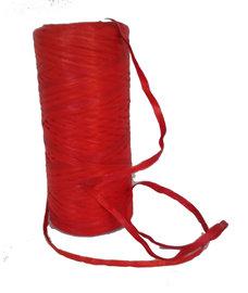 Rood Raffia lint,  5 mm, per 5 meter