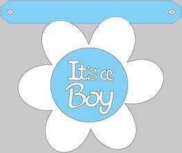 Bloem It's a boy tussenstukje