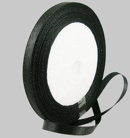 Zwart Satijn lint, 6mm, rol 23 m