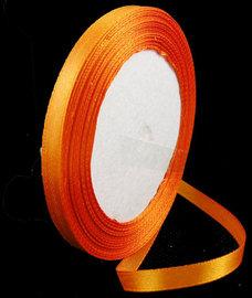 Oranje Satijn lint, 6mm, rol 23 m