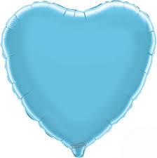 Blauw:Lichtblauw Hart Folieballon