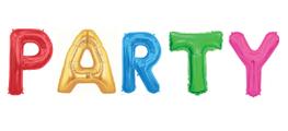 Folieballon letters PARTY