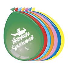 Ballonnen Hoera Geslaagd, 8 stuks