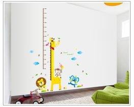 Groeimeter sticker Giraffe + vrienden