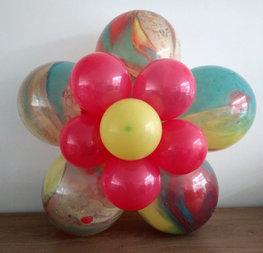 Ballonnenbloem DIY, marmer