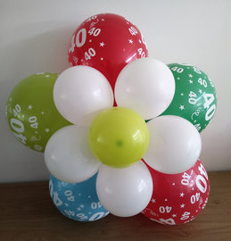 Ballonnenbloem DIY, 40 jaar blauw/groen